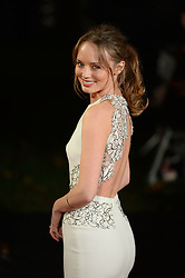 Laura Haddock arrives for The Hunger Games: Catching Fire premiere, Leicester Square, London, United Kingdom. Monday, 11th November 2013. Picture by Andrew Parsons / i-Images