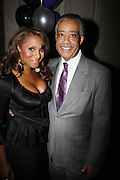 l to r: Marvette Britto and Rev. Al Sharpton at The Birthday Celebration for Kelli Coleman held at The Avenue on Decemeber 6, 2009 in New York City