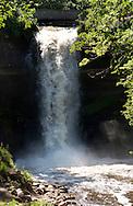 Minnehaha Falls flows in Minneapolis, MN, on Monday, July 25, 2011. (© 2011 Cindi Christie/Cyanpixel Photography)