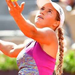 Yulia Putintseva of Kazahkstan during Day 8 of the French Open 2018 on June 3, 2018 in Paris, France. (Photo by Dave Winter/Icon Sport)