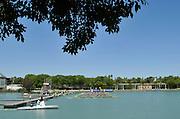 Seville. Andalusia. SPAIN.   Start. Men's eight.  GER M8+ Maximilian MUNSKI (b) , Hannes OCIK (2) , Maximilian REINELT (3) , Felix DRAHOTTA (4) , Anton BRAUN (5) , Richard SCHMIDT (6) , Kristof WILKE (7) , Eric JOHANNESEN (s) , Martin SAUER ©.  2013 FISA European Rowing Championship.  Guadalquivir River.  Friday  31/05/2013.  [Mandatory Credit. Peter Spurrier/Intersport]