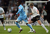 Photo: Rich Eaton.<br /> <br /> Hereford United v Coventry City. Carling Cup. 22/08/2006. Coventrys Stern John left, and Herefords Dean Beckwit
