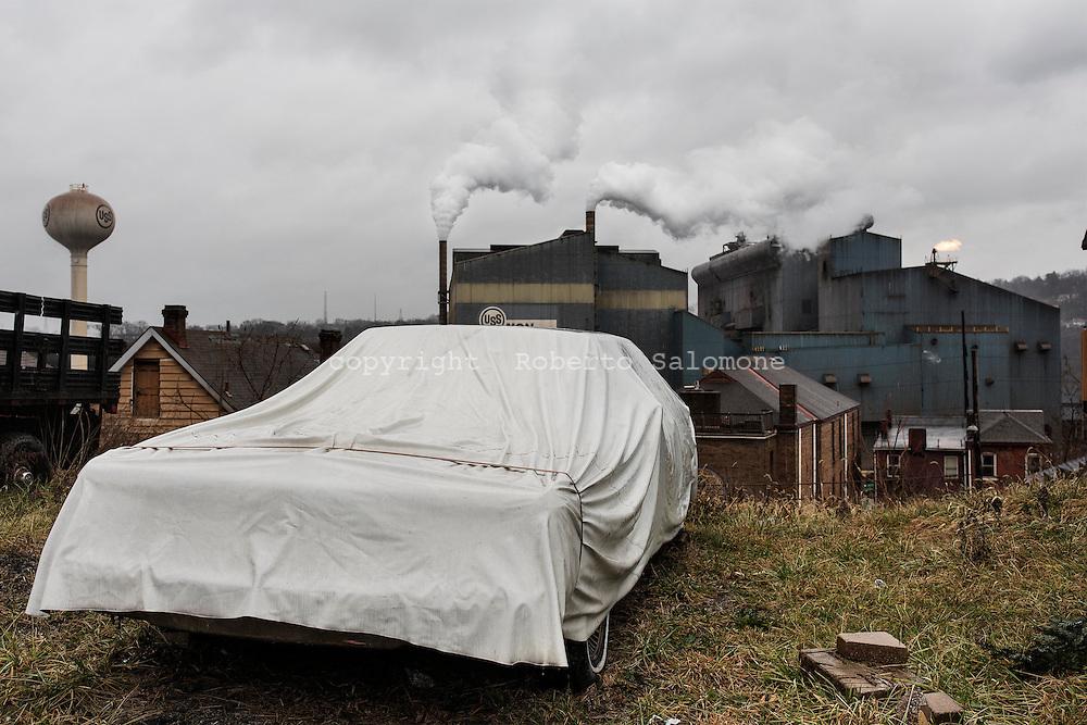 Braddock, Pennsylvania - Industria siderurgica a Braddock, Pennsylvania.<br /> A view of a steel factory in the town of Braddock in Pennsylavania.