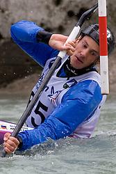 Jure Meglic of KKK Tacen competes in the Men's Kayak K-1 at kayak & canoe slalom race on May 9, 2010 in Tacen, Ljubljana, Slovenia. (Photo by Vid Ponikvar / Sportida)