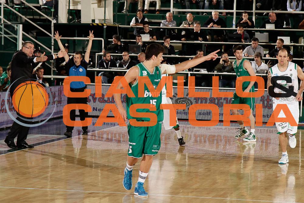 DESCRIZIONE : Avellino Lega A 2010-11 Quarti di finale Play off Gara 1 Air Avellino Benetton Treviso<br /> GIOCATORE : Alessandro Gentile<br /> SQUADRA : Benetton Treviso<br /> EVENTO : Campionato Lega A 2010-2011<br /> GARA : Air Avellino Benetton Treviso<br /> DATA : 19/05/2011<br /> CATEGORIA : esultanza<br /> SPORT : Pallacanestro<br /> AUTORE : Agenzia Ciamillo-Castoria/A.De Lise<br /> Galleria : Lega Basket A 2010-2011<br /> Fotonotizia : Avellino Lega A 2010-11 Quarti di finale Play off Gara 1 Air Avellino Benetton Treviso<br /> Predefinita :