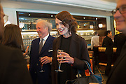 GRAYDON CARTER; ELIZABETH MCGOVERN, Vanity Fair Lunch hosted by Graydon Carter. 34 Grosvenor Sq. London. 14 May 2013