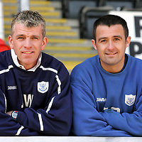 Caretaker manager of St Johnstone Jim Weir who is running the team with captain David Hannah hoping for a win against Clyde tomorrow.<br />