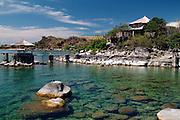 Africa. Malawi. Likoma Island. Kaya Mawa* Lodge.  Built on the clear waters of Lake Malawi..*Chicewa for 'Maybe tomorrow'..CD0010