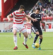 Dundee&rsquo;s Kane Hemmings and Hamilton&rsquo;s Lucas Tagliapietra- Hamilton v Dundee, Ladbrokes Scottish Premiership at New Douglas Park<br />  <br />  - &copy; David Young - www.davidyoungphoto.co.uk - email: davidyoungphoto@gmail.com