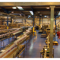 Inside the Highland Spring Water factory at Blackford, Perthshire