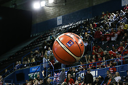 Inflatable Molten ball in the crowd - Photo mandatory by-line: Arron Gent/JMP - 26/01/2020 - BASKETBALL - Arena Birmingham - Birmingham, England - Bristol Flyers v Worcester Wolves - British Basketball League Cup Final