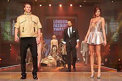 © Licensed to London News Pictures.  07/12/2012. BIRMINGHAM, UK. Models walk down the catwalk during the Fashion Theatre show at the Clothes Show Live event being held in the NEC, Birmingham. The show opens today and runs until Tuesday. Photo credit :  Cliff Hide/LNP