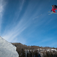Telemark Big Air competition in Vail, CO