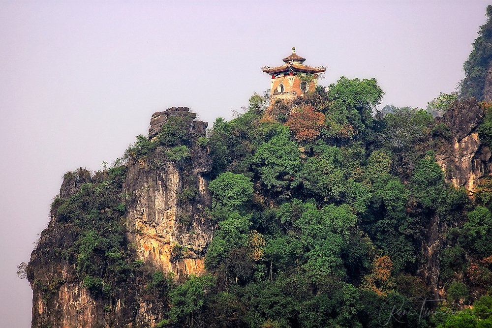 A pagoda with a view.