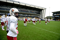 Czech Republic American Footballers prepare to play the Netherlands in the IFAF European Championship played at the Sixways stadium - Photo mandatory by-line: Dougie Allward/JMP - 18/09/2016 - American Football - Sixways Stadium - Worcester, England - Netherlands v Czech Republic - IFAF European Championship