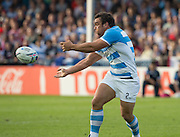 Gloucester, Great Britain, Puma's Hooker, Agustin CREEVY,during the Pool C. game.  Argentina vs Georgia, 2015 Rugby World Cup, Venue. Kingsholm Stadium. England, Friday - 25/09/2015 <br /> [Mandatory Credit; Peter Spurrier/Intersport-images]