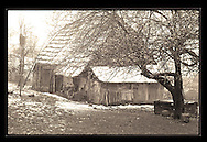 Barn in Transylvania, built 1890<br /> <br /> Digital Print 24x36&quot;