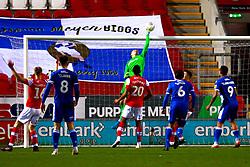 Daniel Iversen of Rotherham United tips the ball over the crossbar - Mandatory by-line: Ryan Crockett/JMP - 18/01/2020 - FOOTBALL - Aesseal New York Stadium - Rotherham, England - Rotherham United v Bristol Rovers - Sky Bet League One