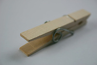 Wooden clothes peg