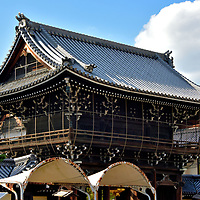 Sanmon Gate at Koshoji Temple in Kyoto, Japan<br />