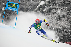 Albin Tahiri of Kosovo competes during 1st run of Men's GiantSlalom race of FIS Alpine Ski World Cup 57th Vitranc Cup 2018, on March 3, 2018 in Kranjska Gora, Slovenia. Photo by Ziga Zupan / Sportida