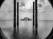 Limited Editions of 17<br /> Remains of an old Victorian Pier sit forlornly just off Brighton's seafront