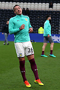 Aston Villa defender John Terry (26) warming up prior to the EFL Sky Bet Championship match between Hull City and Aston Villa at the KCOM Stadium, Kingston upon Hull, England on 31 March 2018. Picture by Mick Atkins.
