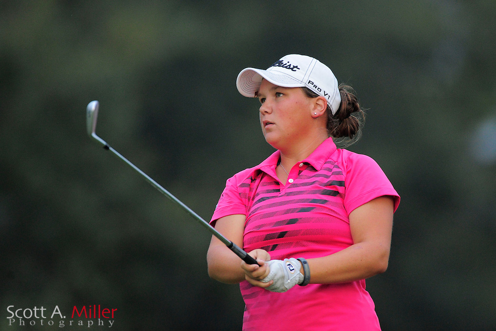 Brittany Hamilton during the second round of the Symetra Tour Championship at LPGA International on Sept. 27, 2013 in Daytona Beach, Florida. <br /> <br /> <br /> &copy;2013 Scott A. Miller
