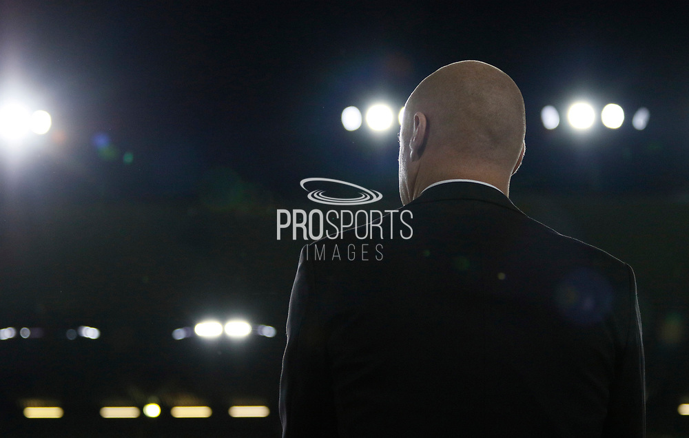 Burnley's Manager Sean Dyche during the EFL Cup match between Burnley and Leeds United at Turf Moor, Burnley, England on 19 September 2017. Photo by Paul Thompson.