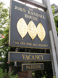 John Randall House Guest House Sign. Provincetown, MA August 2008