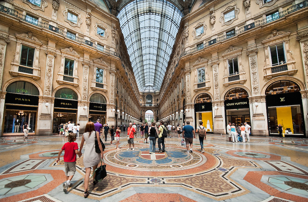 MILAN, ITALY - JULY 03:  Shoppers in the Galleria Vittorio Emanuele II in Milan on the first day of the Summer Sales on July 3, 2010 in Milan, Italy. Milan's summer sales start today. .***Agreed Fee's Apply To All Image Use***.Marco Secchi /Xianpix. tel +44 (0) 207 1939846. e-mail ms@msecchi.com .www.marcosecchi.com