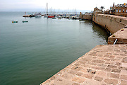 Old Jaffa Port, Tel Aviv, Israel is now used as a fishing harbour and tourist attraction.