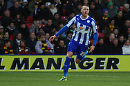 Picture by David Horn/Focus Images Ltd +44 7545 970036<br /> 14/12/2013<br /> Connor Wickham of Sheffield Wednesday celebrates scoring the opening goal during the Sky Bet Championship match at Vicarage Road, Watford.