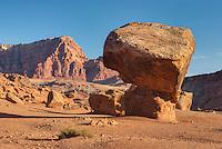 Delicately balanced sandstone boulders, Vermilion Cliffs National Monument Arizona
