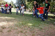 Incoming Melrose Leadership Academy families met at Oakland's Dimand Park for an orientation program. Melrose Leadership will start its third year of Spanish immersion instruction.