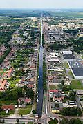 Nederland, Groningen, Stadskanaal, 27-08-2013;<br /> Het stadskanaal in Stadskanaal.<br /> luchtfoto (toeslag op standaard tarieven);<br /> aerial photo (additional fee required);<br /> copyright foto/photo Siebe Swart.