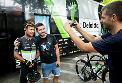 Mark Cavendish (GB) of Team Dimension Data with fans during Stage 2 of 24th Tour of Slovenia 2017 / Tour de Slovenie from Ljubljana to Ljubljana (169,9 km) cycling race on June 16, 2017 in Slovenia. Photo by Vid Ponikvar / Sportida