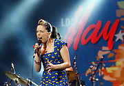 Imelda May performs live on the Big Top stage during day one of the Isle of Wight Festival 2011 at Seaclose Park on June 10, 2011 in Newport, Isle of Wight.  (Photo by Simone Joyner)