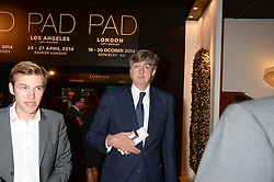 ROBIN BIRLEY at the PAD Art and Design Fair 2013 Collectors Preview in Berkeley Square, London on 14th October 2013.