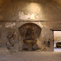 11 May, 2004:  The ancient town of Herculaneum was buried in mud when Mt. Vesivus erupted in 79A.D. The entire town was buried under 60 meters of mud and was not discovered until the mid 1700's. This is main entrance to the baths in Herculaneum on May 11, 2004.