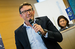 Luka Velepič, CEO of Costella d.o.o. during press conference of cycling race Tour Slovenia 2018, on May 17, 2018, in Ljubljana, Slovenia. Photo by Vid Ponikvar / Sportida