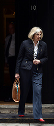 © Licensed to London News Pictures. 01/05/2012. London, UK . Home Secretary Theresa May leaves number 10 Downing Street after a meeting with David Cameron today 1st May 2012. Cabinet ministers in Downing Street for the Cabinet Meeting on 1st May 2012. Photo credit : Stephen Simpson/LNP