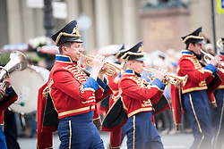 12 June 2017, Saint Petersburg, Russia. 12 June is Russia Day, the country's national day, which in 2017 saw not only the annual parade moving through the city centre, but also the detention of hundreds of anti-corruption protestors in Saint Petersburg, and thousands of protestors across Russia's larger cities.