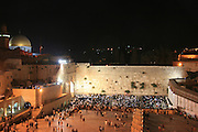 Israel, Jerusalem, The wailing wall On Tisha B'av, ninth day of the Jewish month of Av, commemorating the destruction of the First and Second Temples.