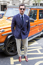 © Licensed to London News Pictures. 10/06/2016. London, UK. David Gandy arrives at the opening for London Collections Men at 180 The Strand. Photo credit : Tom Nicholson/LNP