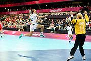 DESCRIZIONE : France Hand Jeux Olympiques Londres <br /> GIOCATORE : DEROUIN Audrey FRA<br /> SQUADRA : France Femme<br /> EVENTO : FRANCE Hand Jeux Olympiques<br /> GARA : FRANCE NORVEGE<br /> DATA : 28 07 2012<br /> CATEGORIA : Hand Jeux Olympiques<br /> SPORT : Handball<br /> AUTORE : JF Molliere <br /> Galleria : France Hand 2011-2012 Action<br /> Fotonotizia : France Hand Femme Hand Jeux Olympiques Londres