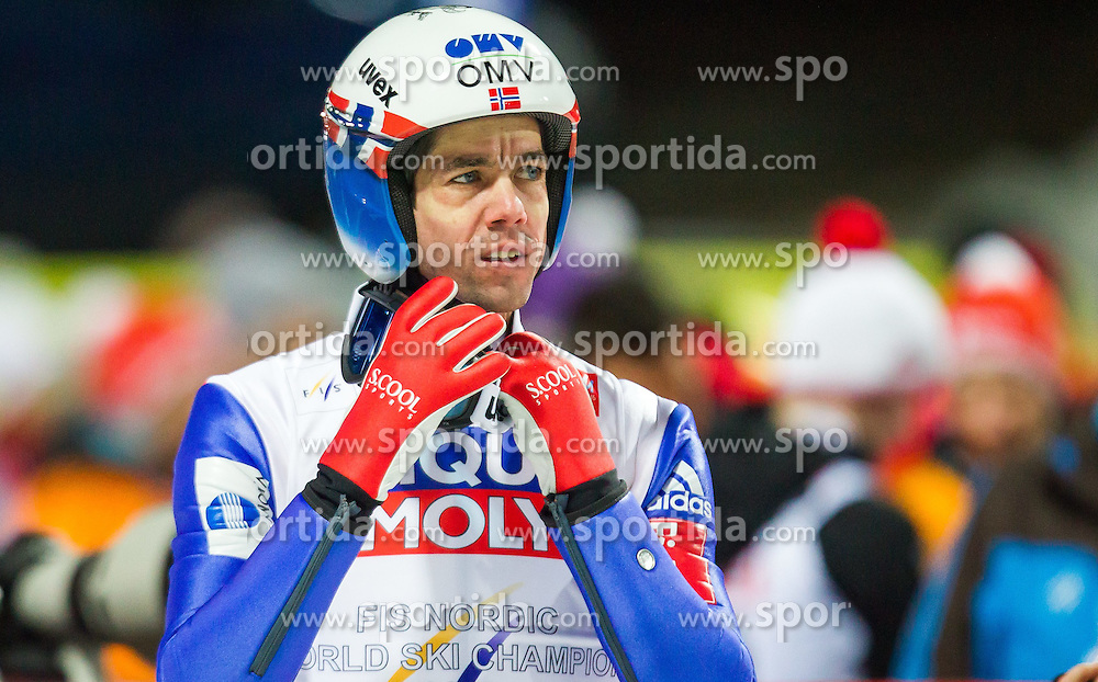 21.02.2015, Lugnet Ski Stadium, Falun, SWE, FIS Weltmeisterschaften Ski Nordisch, Skisprung, Herren, Finale, im Bild Anders Bardal (NOR) // Anders Bardal of Norway during the Mens Skijumping Final of the FIS Nordic Ski World Championships 2015 at the Lugnet Ski Stadium, Falun, Sweden on 2015/02/21. EXPA Pictures © 2015, PhotoCredit: EXPA/ JFK