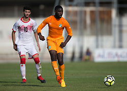 AUBAGNE, FRANCE - Tuesday, May 30, 2017: Ivory Coast's Christ Joel Junior Tiehi in action during the Toulon Tournament Group B match between Bahrain and Ivory Coast at the Stade de Lattre-de-Tassigny. (Pic by Laura Malkin/Propaganda)