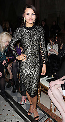 Samantha Barks at the Julien Macdonald show at London Fashion Week Autumn/Winter 2014/15, Saturday, 15th February 2014. Picture by Stephen Lock / i-Images