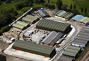 aerial photograph of Castlefields Industrial Estate  Bradford Yorkshire  England UK